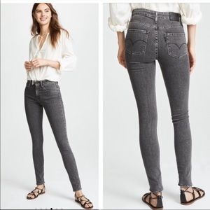 Levi's 721 Washed Black High Rise Skinny Jeans
